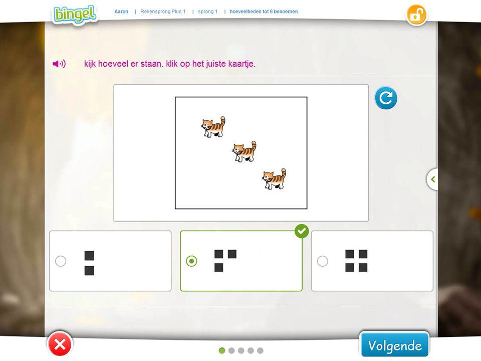 De oefeningen in bingel geven onmiddellijk feedback op het gegeven antwoord.