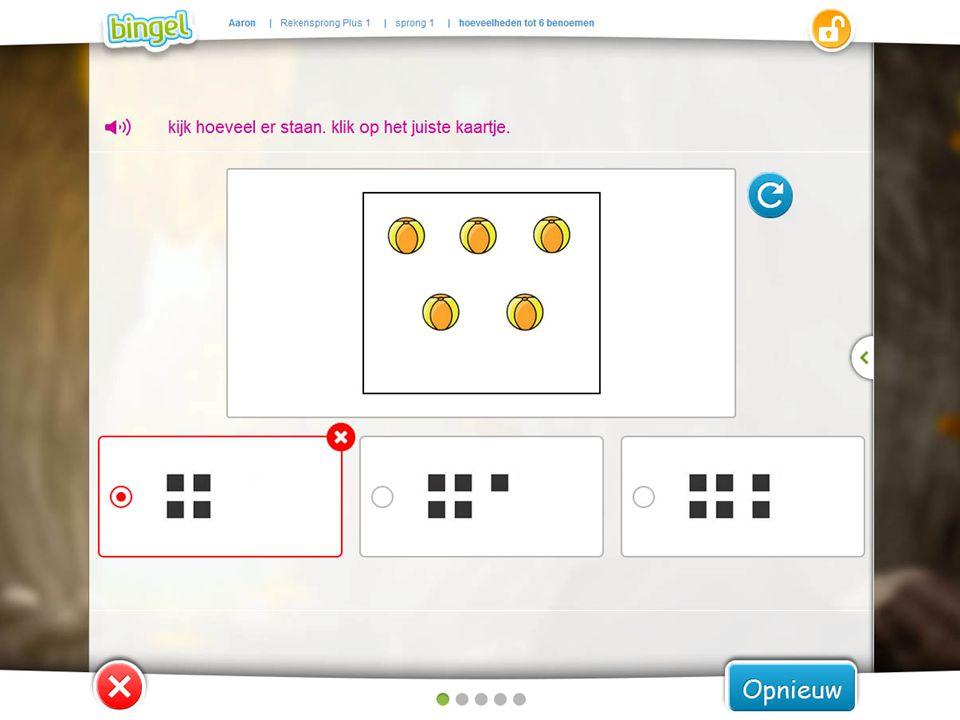 Bij een fout antwoord kan een leerling de oefening opnieuw maken.