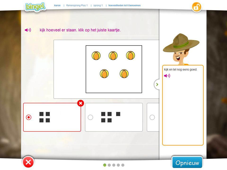 Na een fout antwoord krijgt de leerling ook tips van zijn avatar