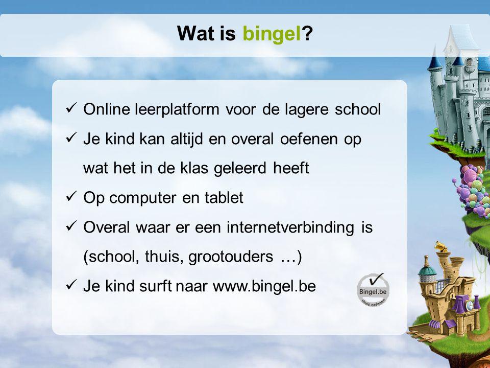 Wat is bingel Online leerplatform voor de lagere school