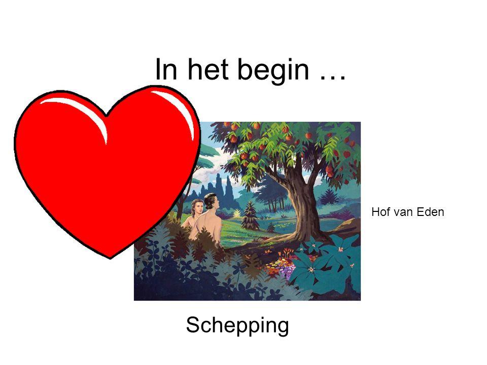 In het begin … Hof van Eden Schepping
