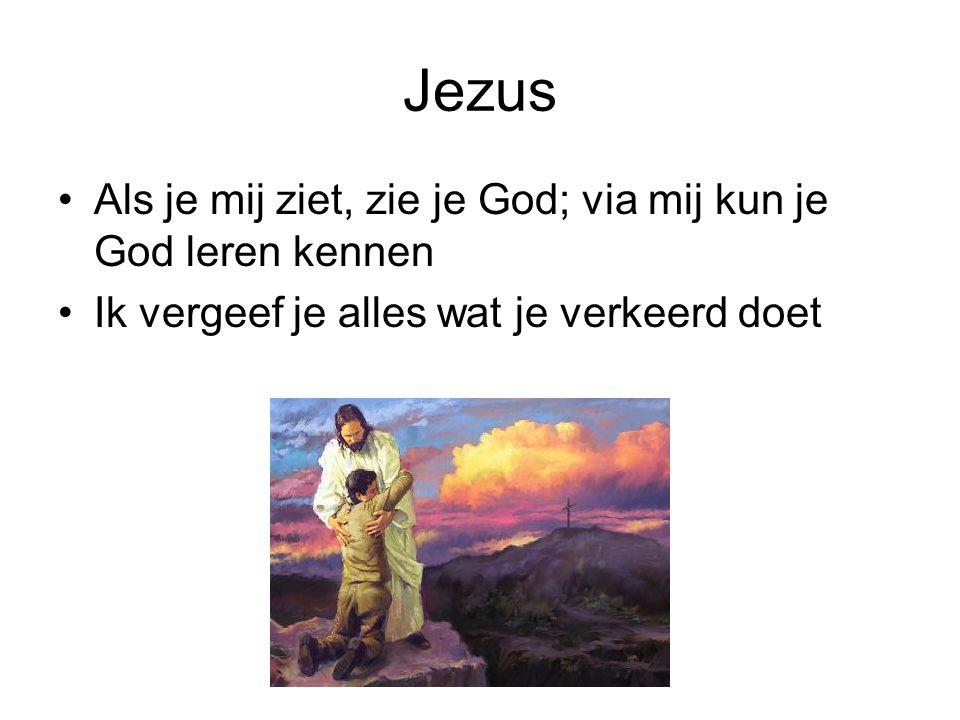 Jezus Als je mij ziet, zie je God; via mij kun je God leren kennen
