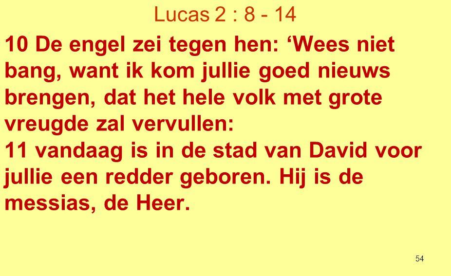 Lucas 2 : 8 - 14