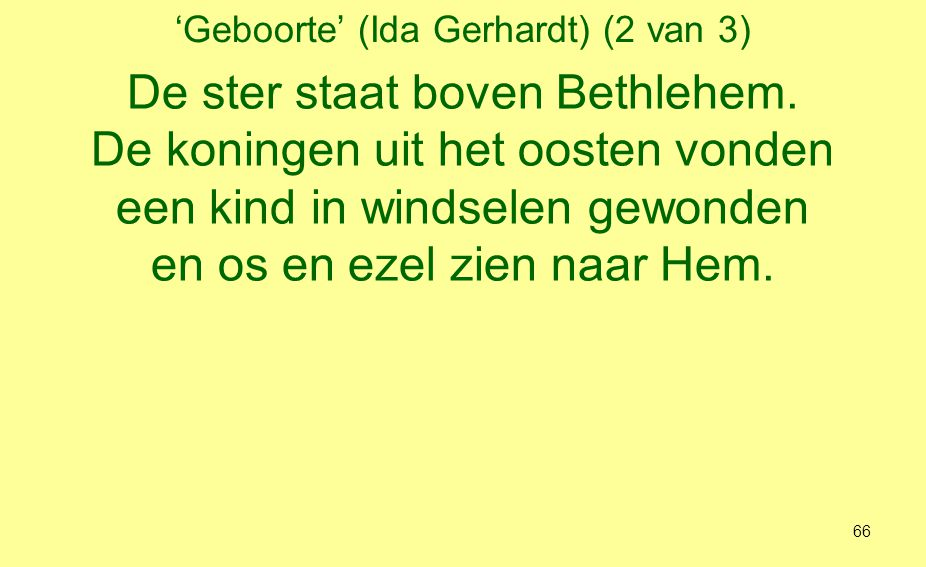 'Geboorte' (Ida Gerhardt) (2 van 3)