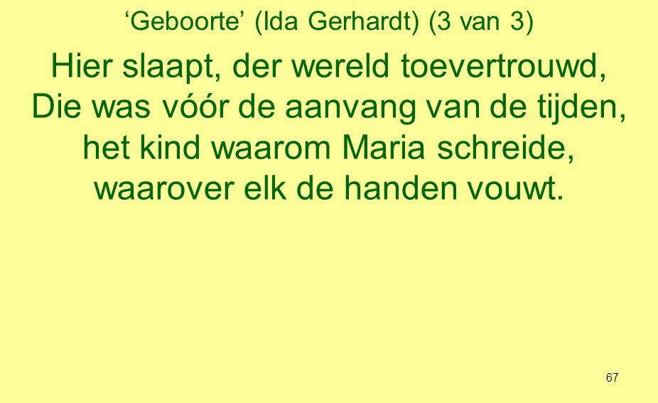 'Geboorte' (Ida Gerhardt) (3 van 3)