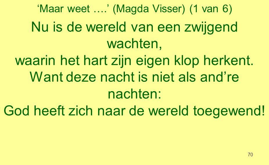 'Maar weet ….' (Magda Visser) (1 van 6)