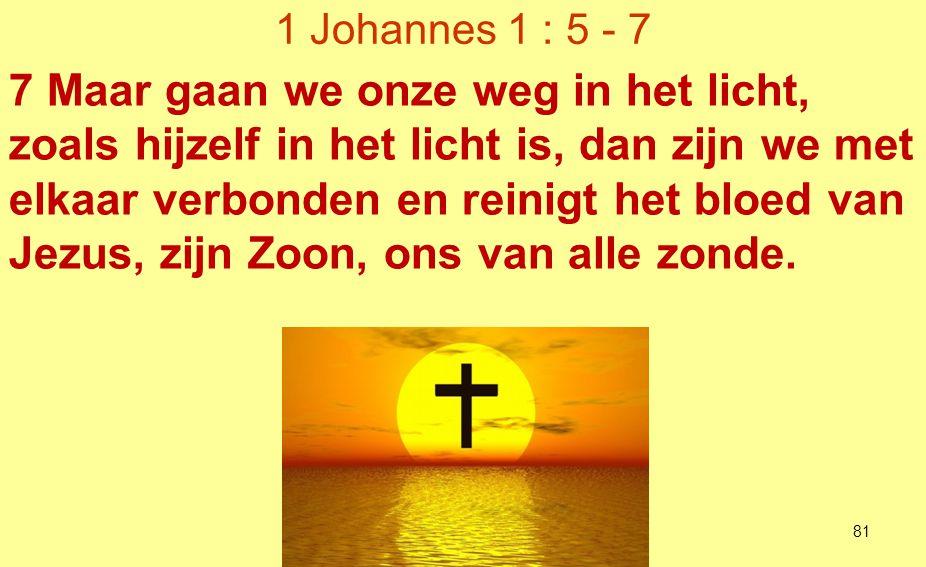 1 Johannes 1 : 5 - 7