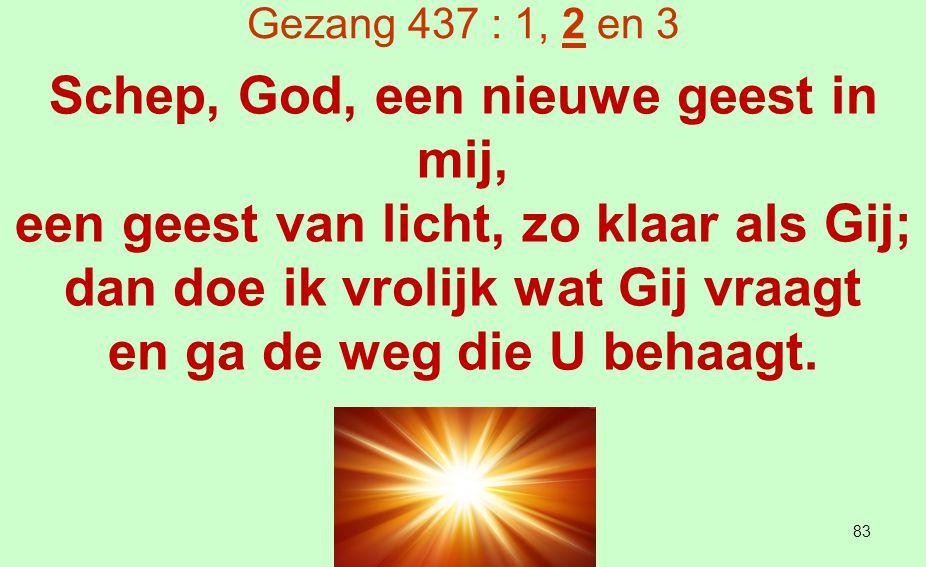 Schep, God, een nieuwe geest in mij,