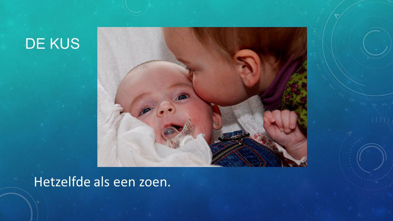 De kus Hetzelfde als een zoen.
