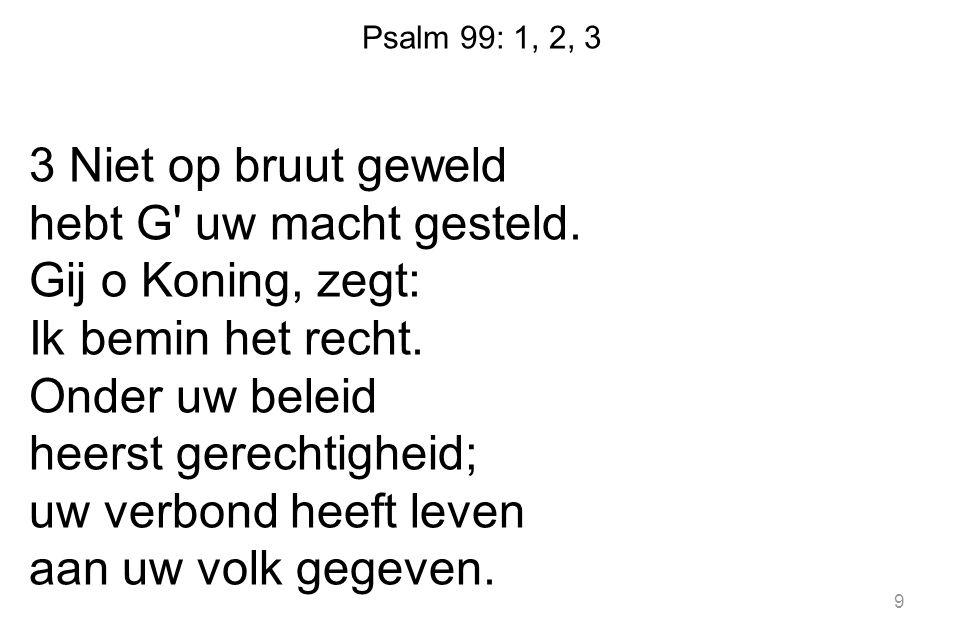 Psalm 99: 1, 2, 3