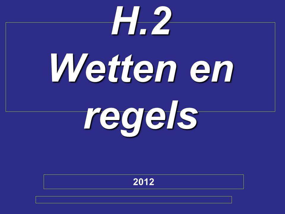 H.2 Wetten en regels 2012