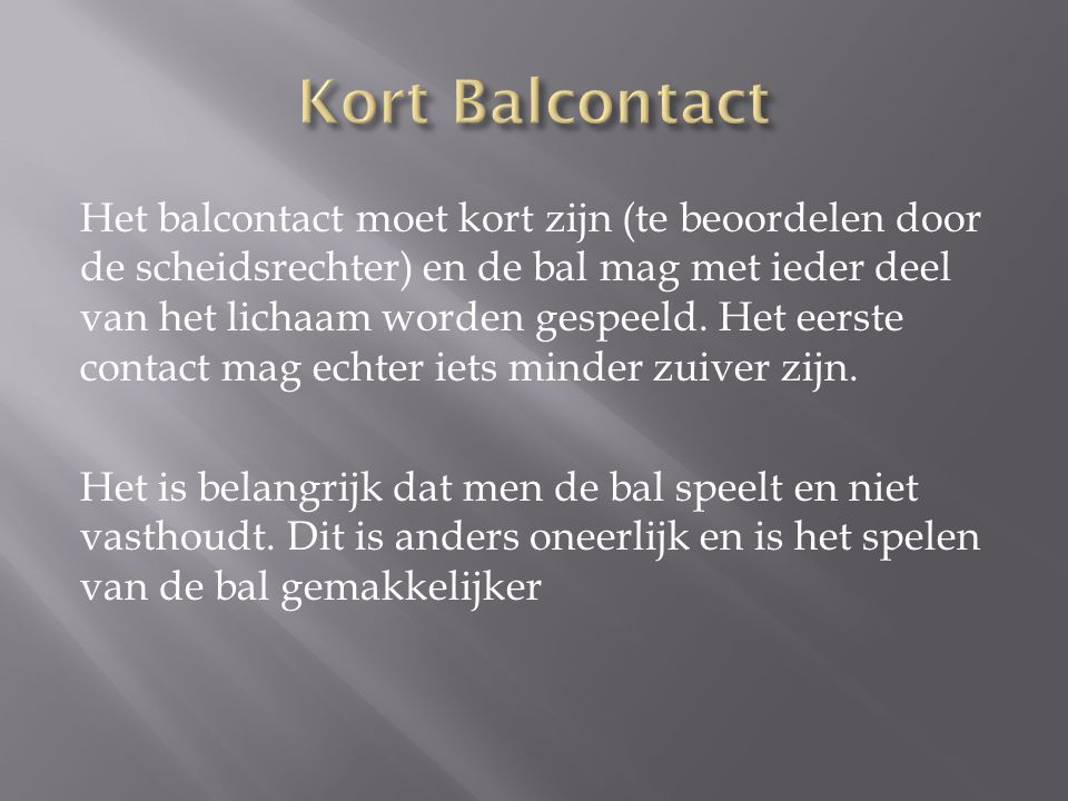 Kort Balcontact