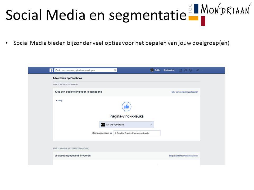 Social Media en segmentatie