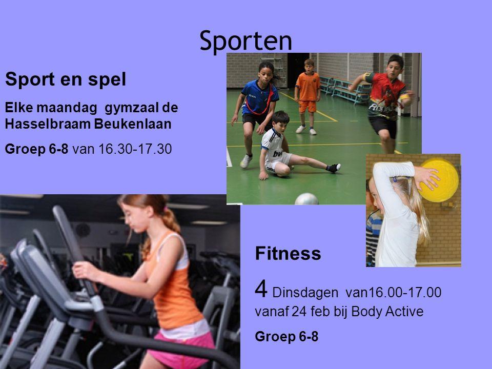 Sporten 4 Dinsdagen van16.00-17.00 vanaf 24 feb bij Body Active