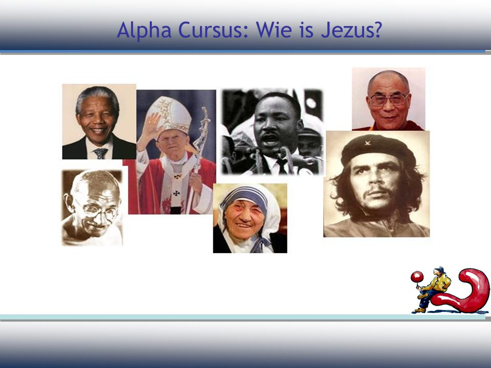 Alpha Cursus: Wie is Jezus
