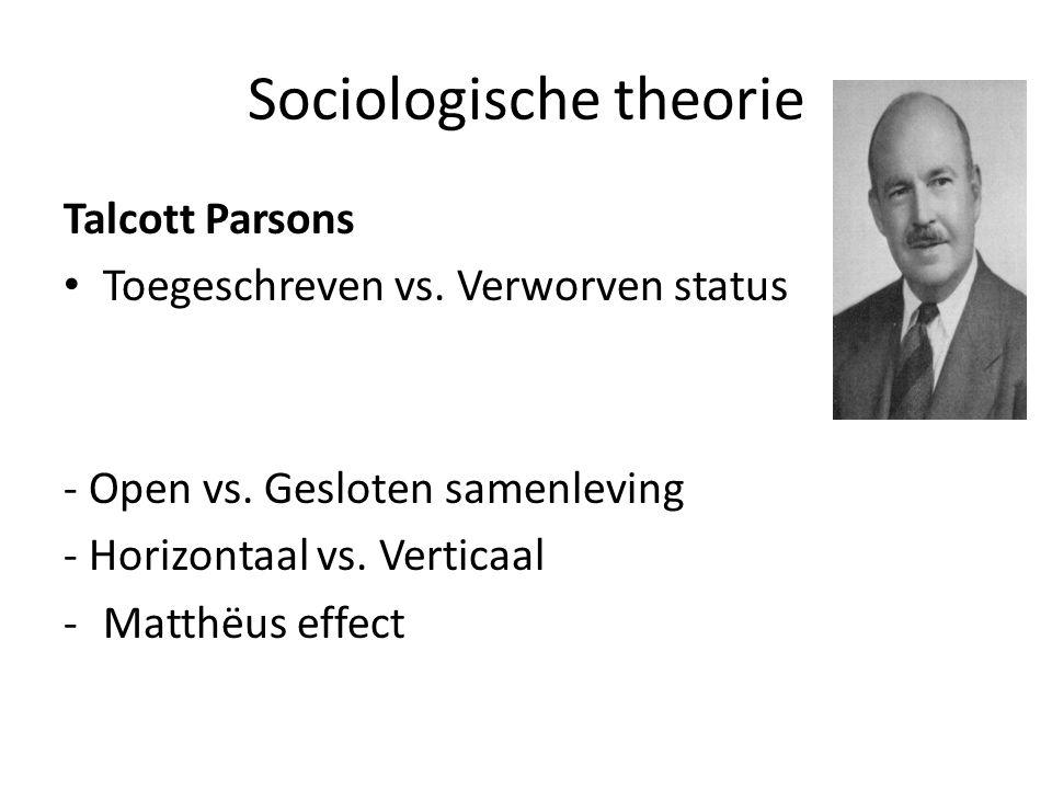 Sociologische theorie