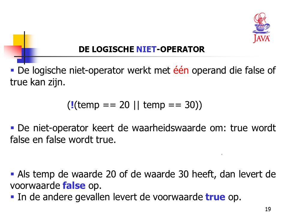 DE LOGISCHE NIET-OPERATOR