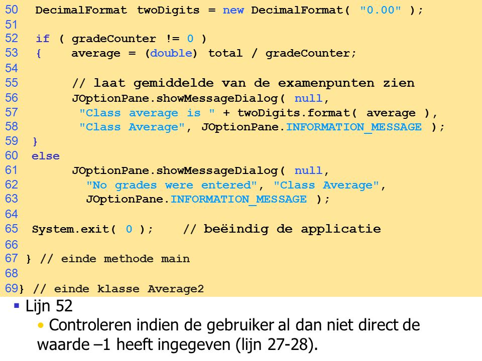 50 DecimalFormat twoDigits = new DecimalFormat( 0.00 );