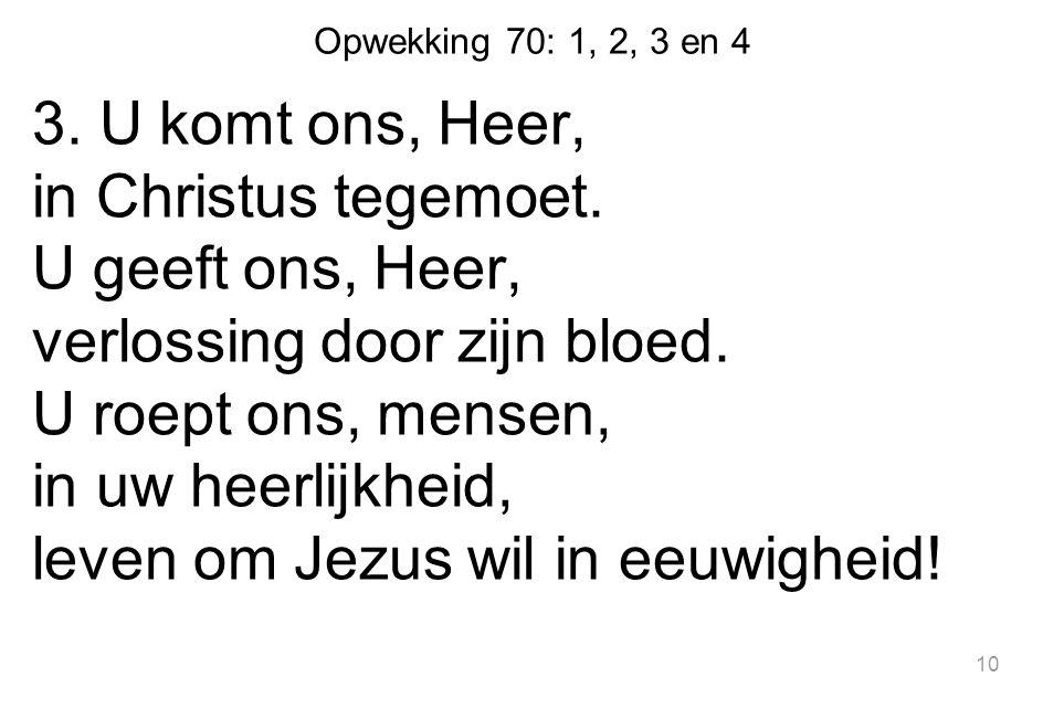 Opwekking 70: 1, 2, 3 en 4