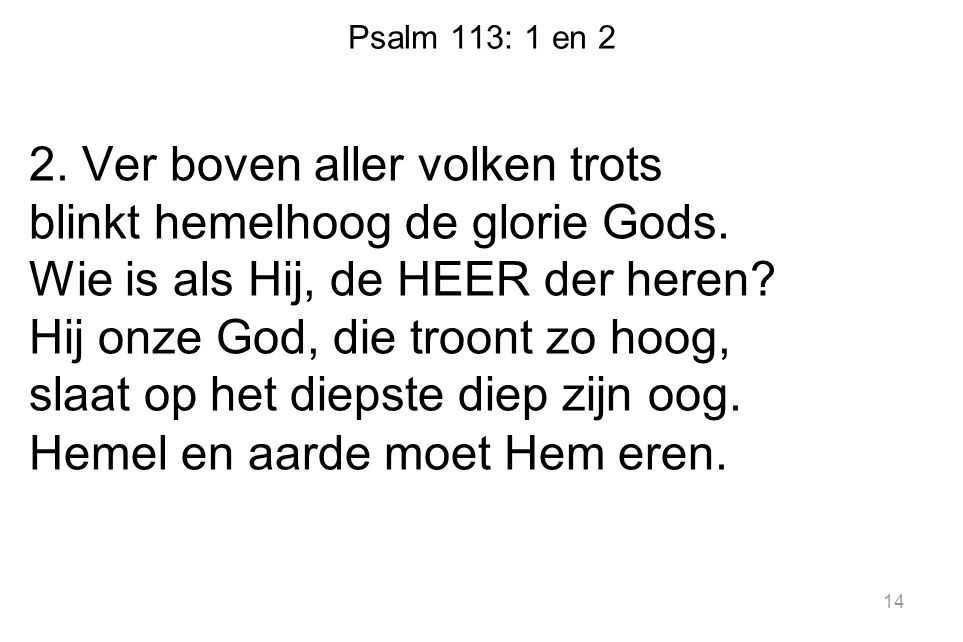 Psalm 113: 1 en 2