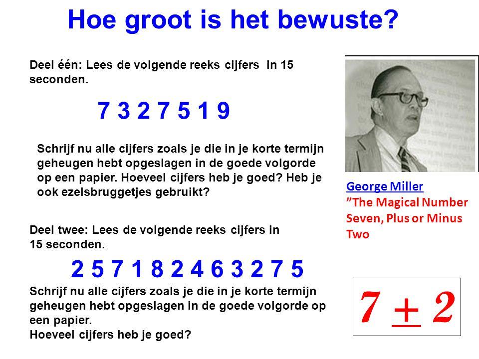 7 + 2 Hoe groot is het bewuste 7 3 2 7 5 1 9 2 5 7 1 8 2 4 6 3 2 7 5