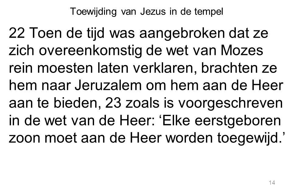 Toewijding van Jezus in de tempel