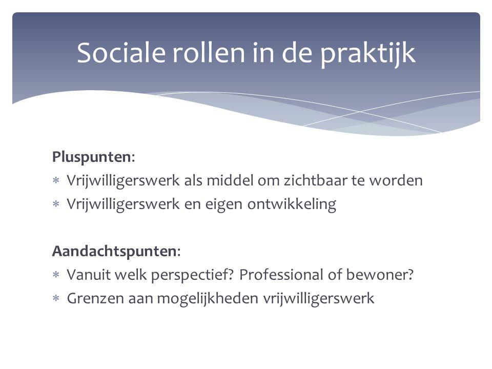 Sociale rollen in de praktijk