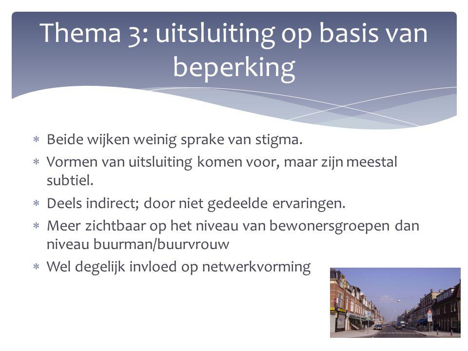 Thema 3: uitsluiting op basis van beperking