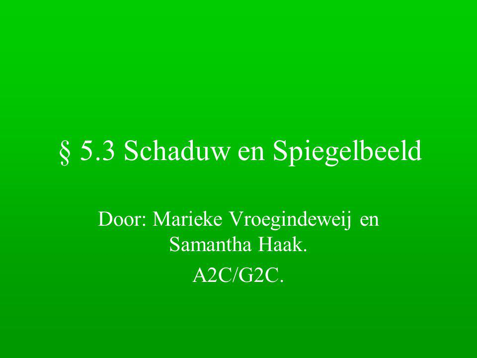 § 5.3 Schaduw en Spiegelbeeld