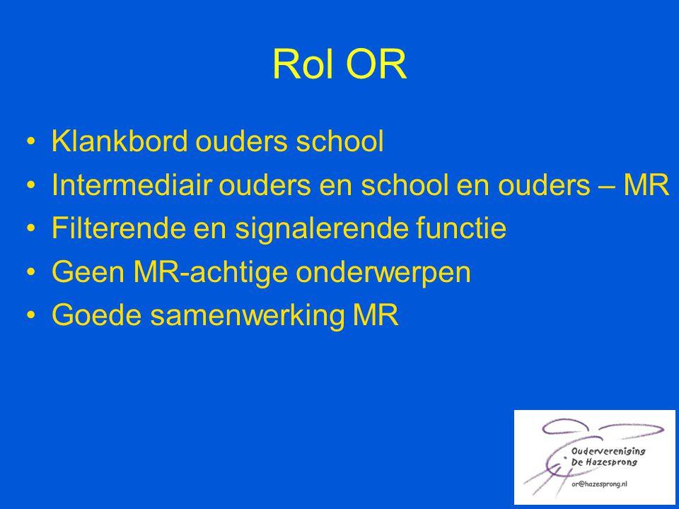 Rol OR Klankbord ouders school