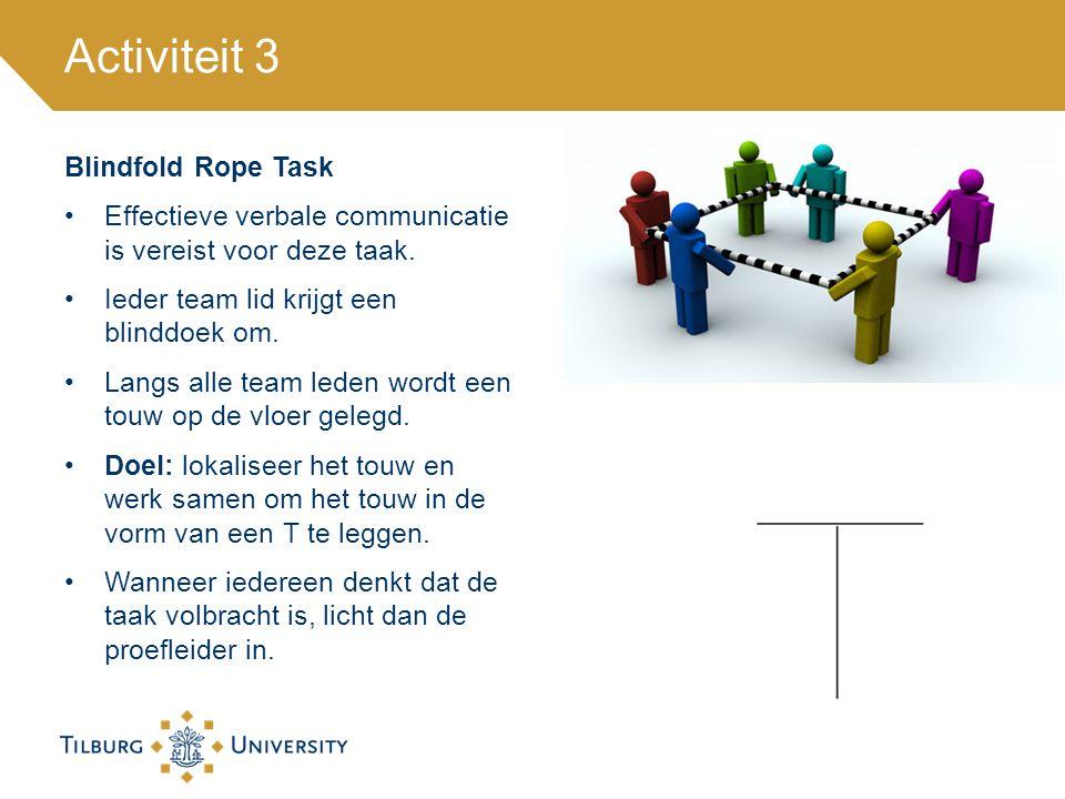 Activiteit 3 Blindfold Rope Task