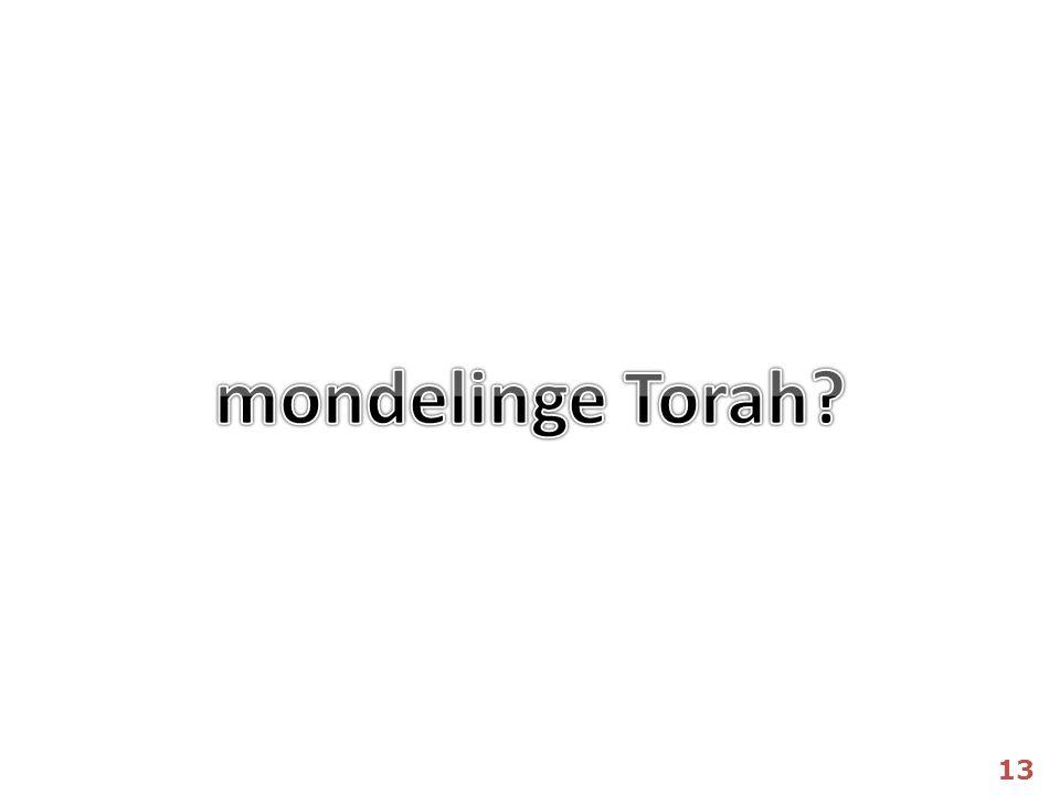 mondelinge Torah 13