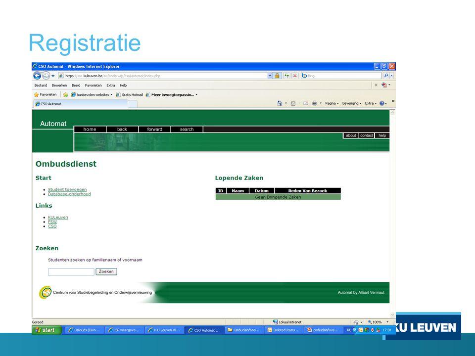 Registratie H start VR vult aan