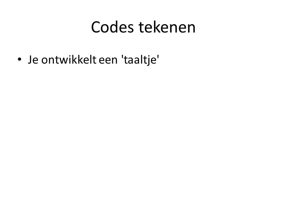 Codes tekenen Je ontwikkelt een taaltje