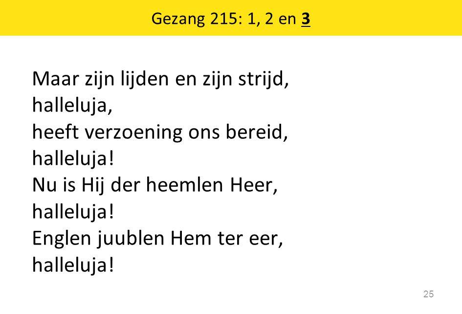 Gezang 215: 1, 2 en 3