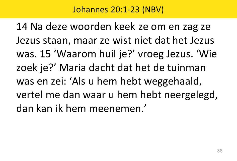 Johannes 20:1-23 (NBV)