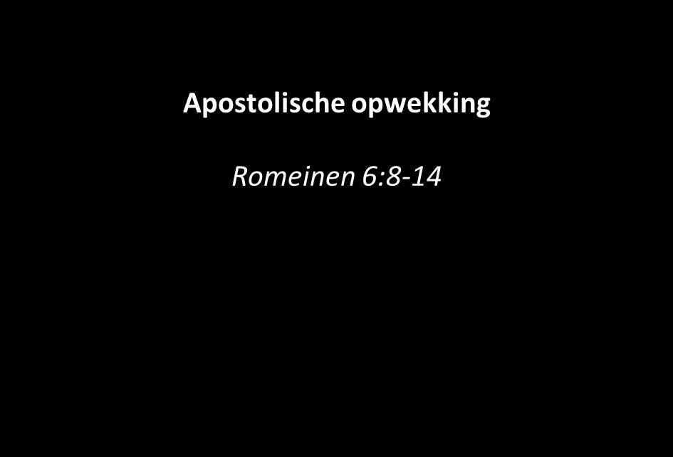 Apostolische opwekking Romeinen 6:8-14
