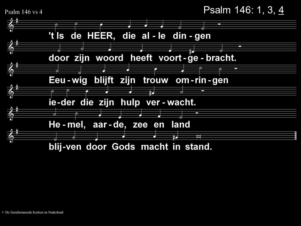 Psalm 146: 1, 3, 4