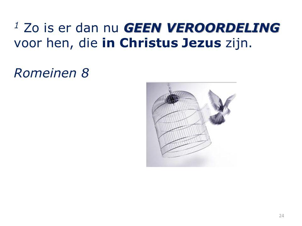 1 Zo is er dan nu GEEN VEROORDELING voor hen, die in Christus Jezus zijn.