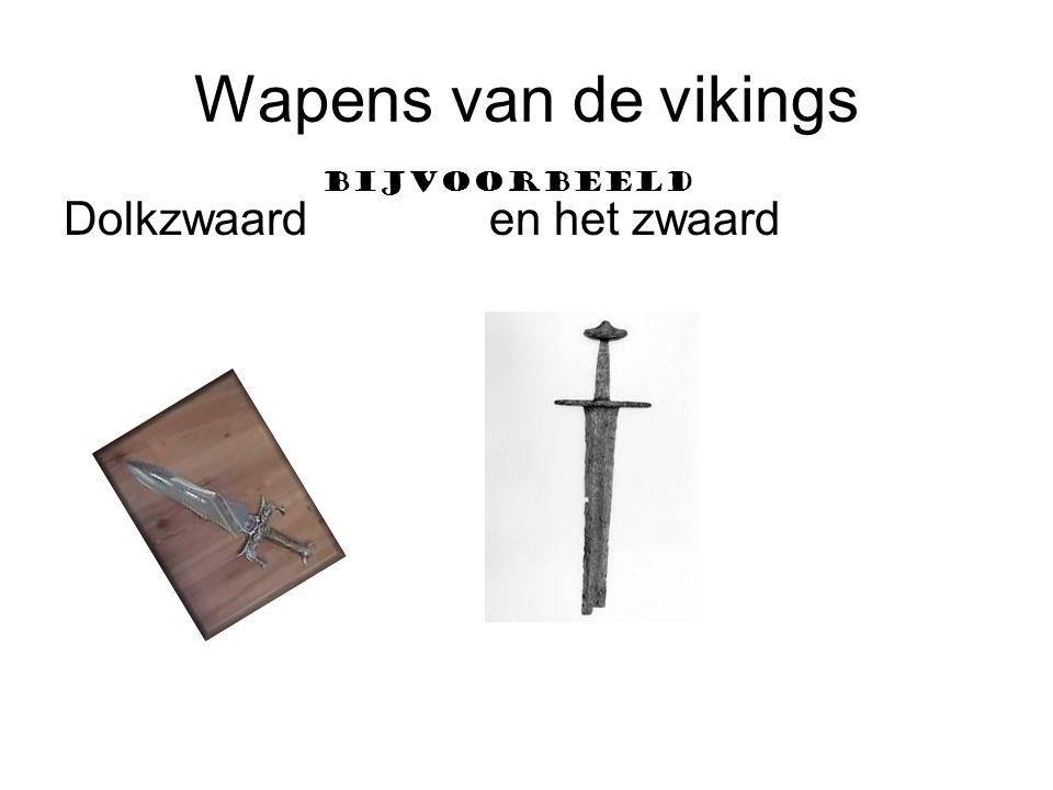 Wapens van de vikings Bijvoorbeeld Dolkzwaard en het zwaard