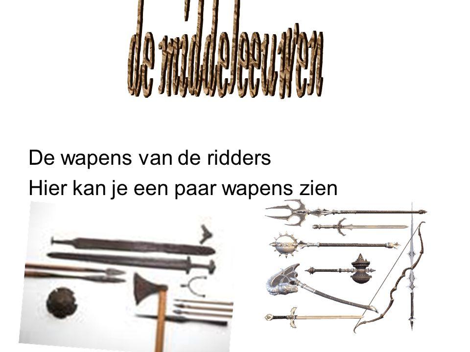 de middeleeuwen De wapens van de ridders