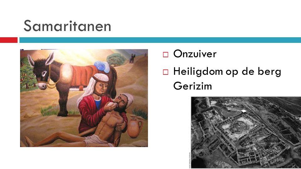 Samaritanen Onzuiver Heiligdom op de berg Gerizim