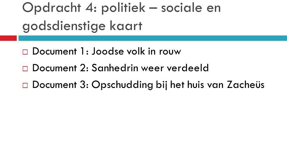 Opdracht 4: politiek – sociale en godsdienstige kaart