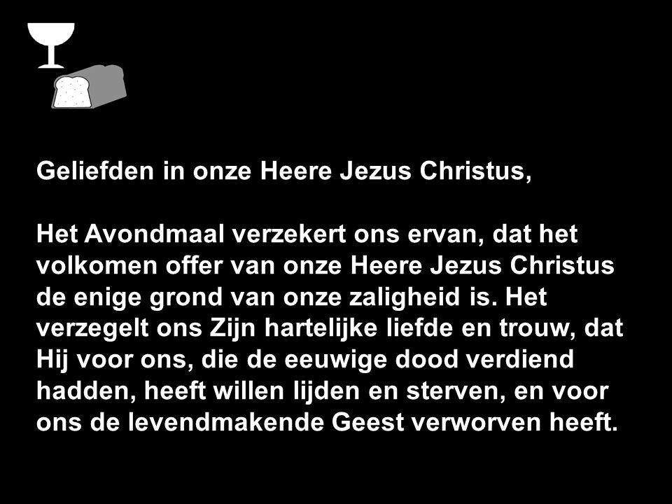 Geliefden in onze Heere Jezus Christus,