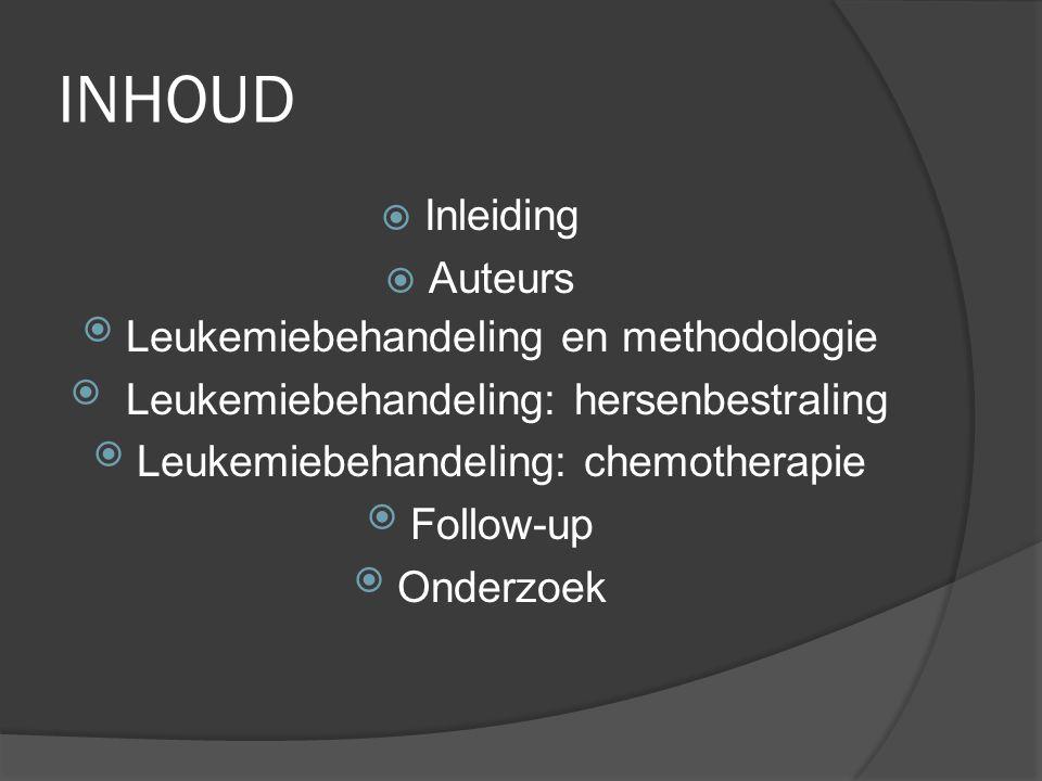 INHOUD Inleiding Auteurs Leukemiebehandeling en methodologie