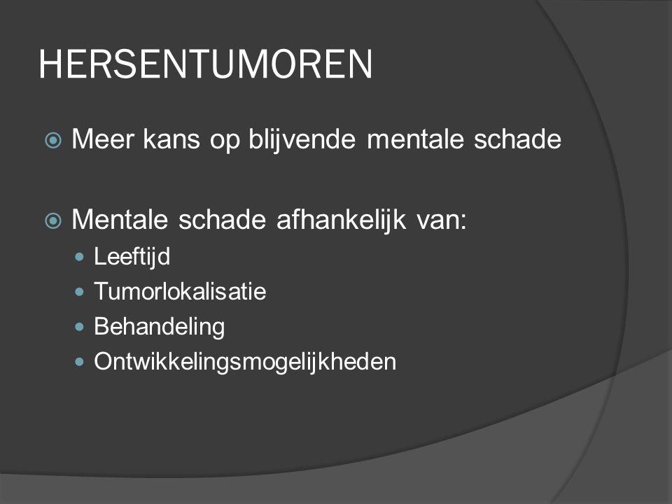 HERSENTUMOREN Meer kans op blijvende mentale schade
