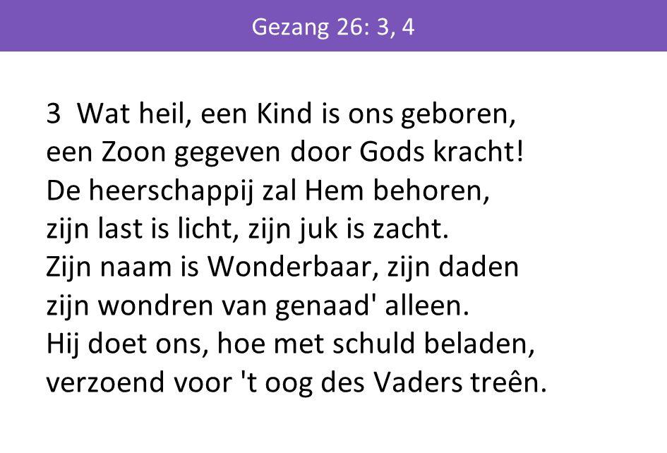 Gezang 26: 3, 4
