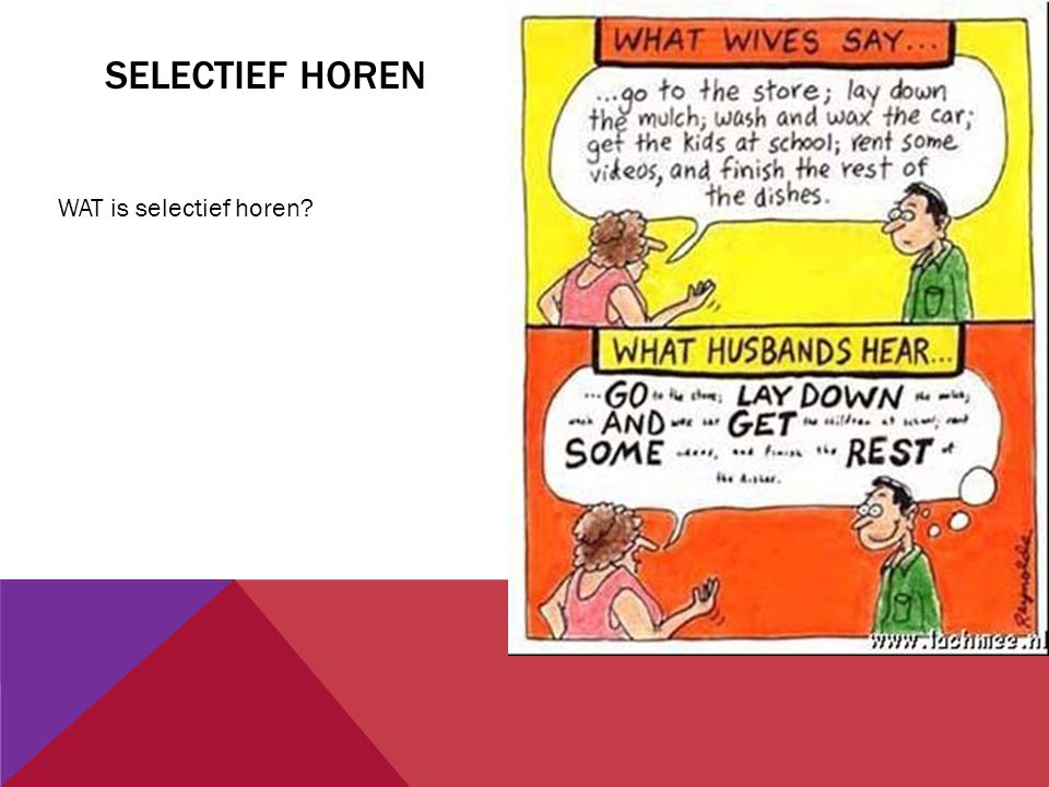 SELECTIEF HOREN WAT is selectief horen