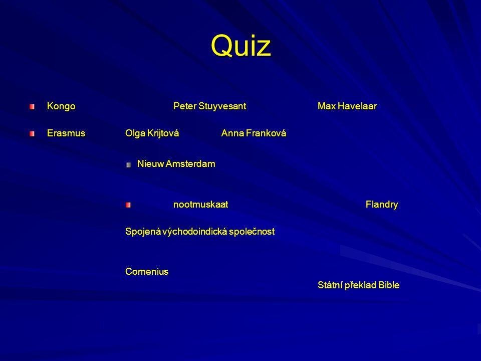 Quiz Kongo Peter Stuyvesant Max Havelaar