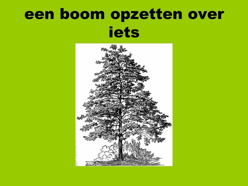 een boom opzetten over iets